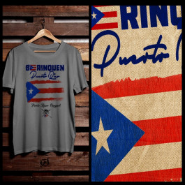 BORINQUEN PUERTO RICO FLAG