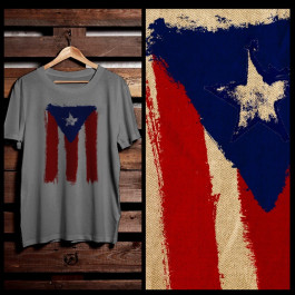 PUERTO RICO FLAG ABSTRACT GRUNGE