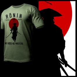 Ronin Samurai Walking into rising sun