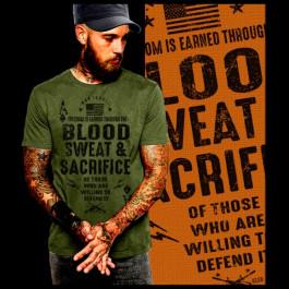 Combat Veteran Blood Sweat Sacrifice
