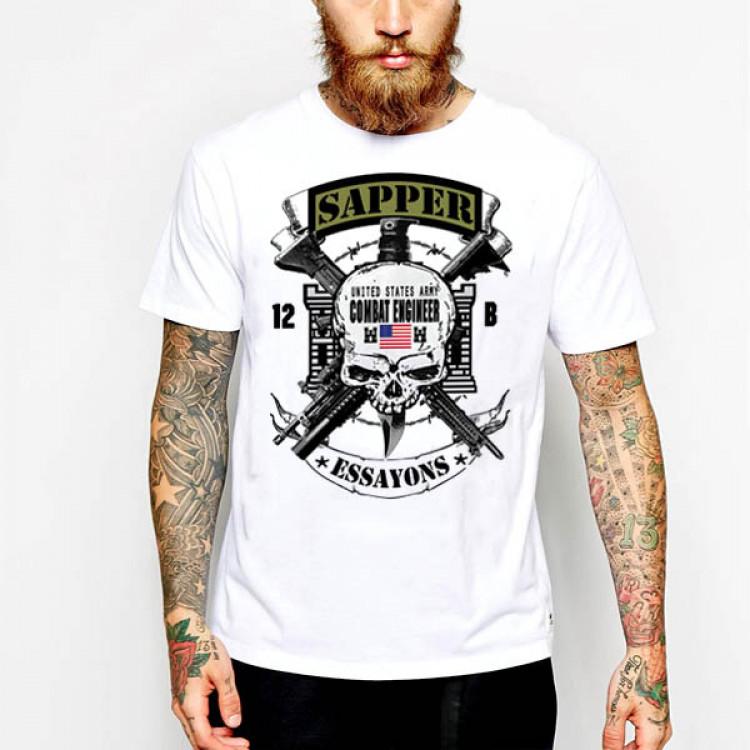 Combat Engineer Essayons Green Tab T-Shirt