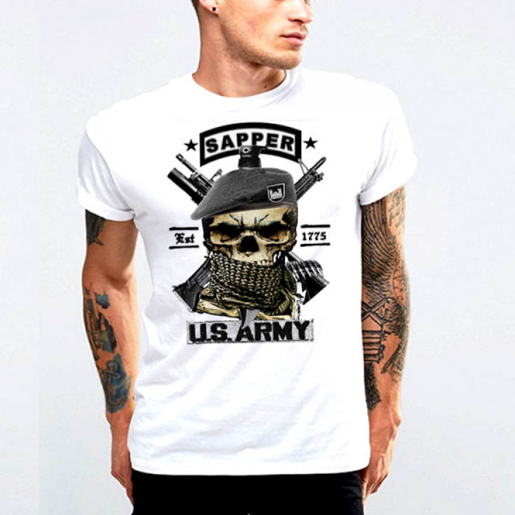 Combat Engineer Essayons Shemagh T-Shirt