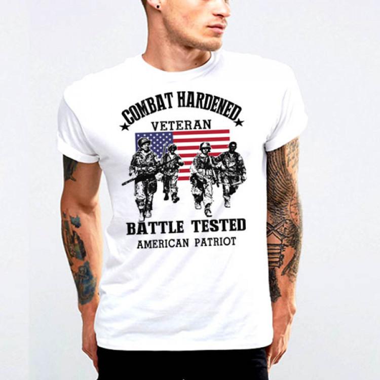 Old school Combat Veteran Tee