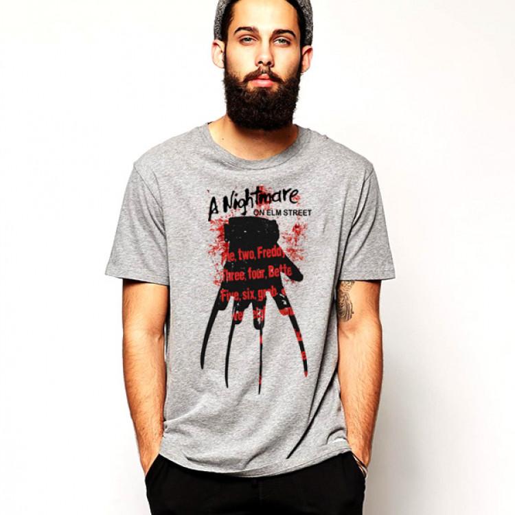 Freddy Krueger T-Shirt Gloves with blood smear
