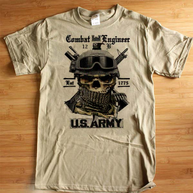 Army Combat Engineer 12 Bravo T-Shirt Mess With The Best Die Like The Rest Cotton Tee