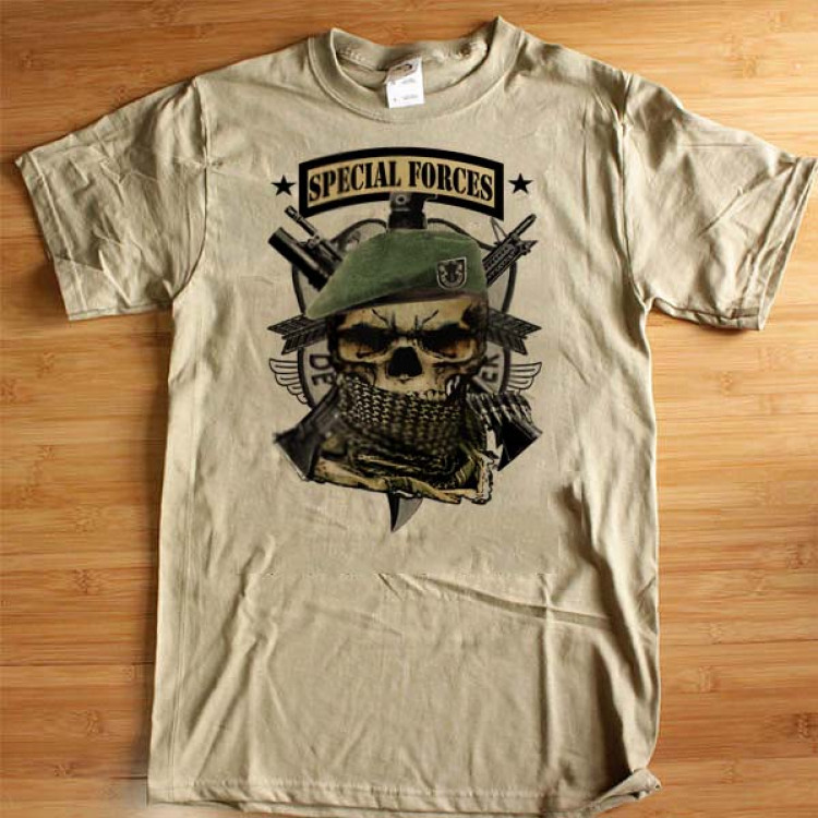Army Special Forces 18D T-Shirt Green Beret Special Operations Skull And Shemagh Airborne