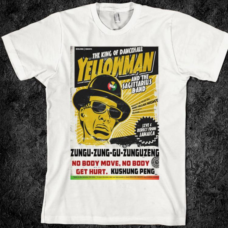 Yellowman reggae music t-shirt 1980s dancehall king