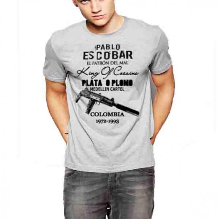 Pablo Escobar medellin Cartel t-shirt King Of Coke