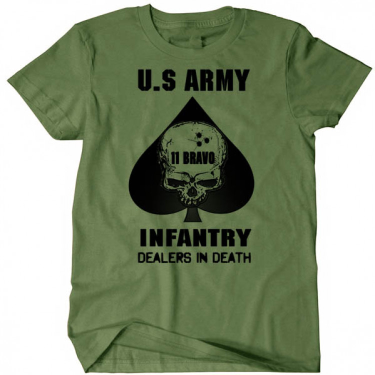 US Army Infantry 11 Bravo US Armed Forces USA Military Combat Tee