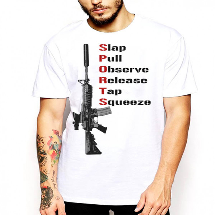 Assault Rifle T-Shirt Acronym SPORTS