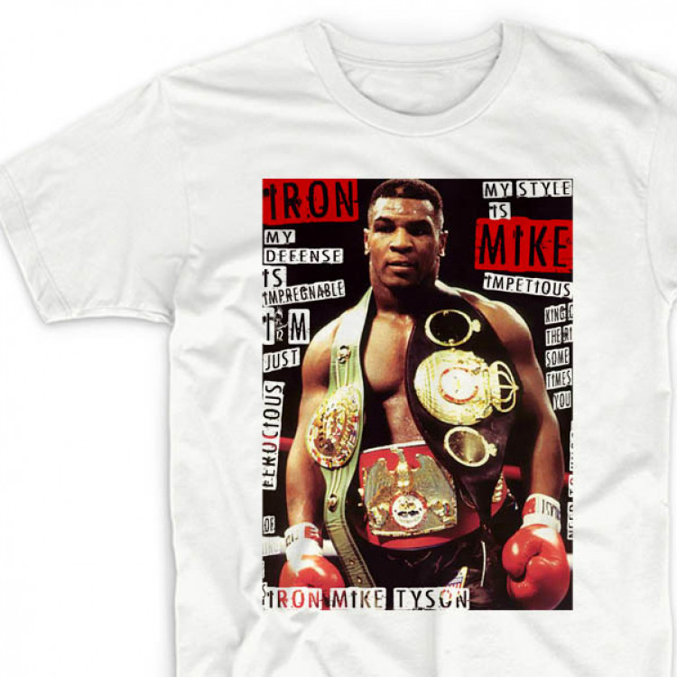 Mike Tyson t-shirt Heavy Weight Championship belts tee