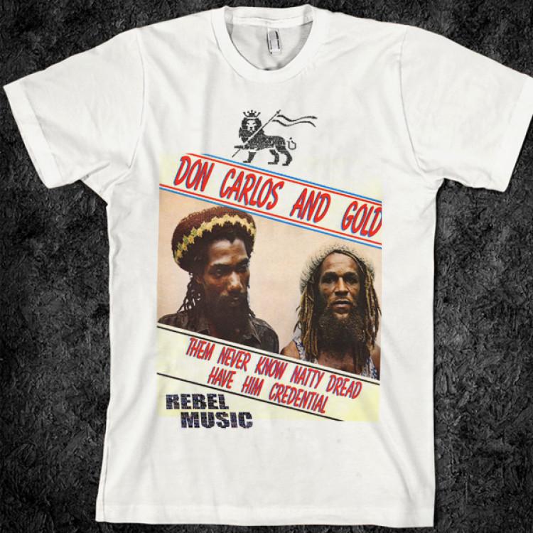 Don carlos retro dubplate reggae music t-shirt