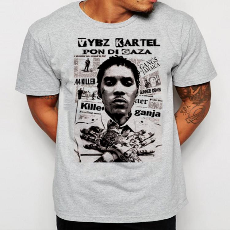Vybz kartel gaza man mi name t-shirt