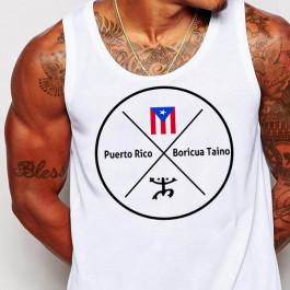 Puerto Rican flag and coqui minimalist design t-shirt